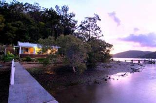 MACKY'S  on HAWKESBURY waterfront w jetty ARRIVE BY BOAT